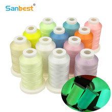 Sanbest Luminous Embroidery Thread Glow In The Dark 800 Meters 150D/2 Polyester Sewing DIY Handmade Cross Stitch Thread TH00057