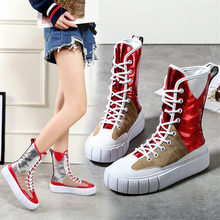 Tennis Shoes Women Lace Up Cow Leather Wedges High Heel Party Pumps Casual Punk Fashion Trainers Platform Oxfords