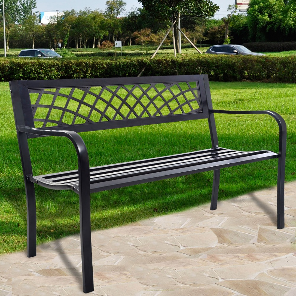 2016 New durable high quality antique cast aluminum park bench garden chair outdoor furniture seat OP2781