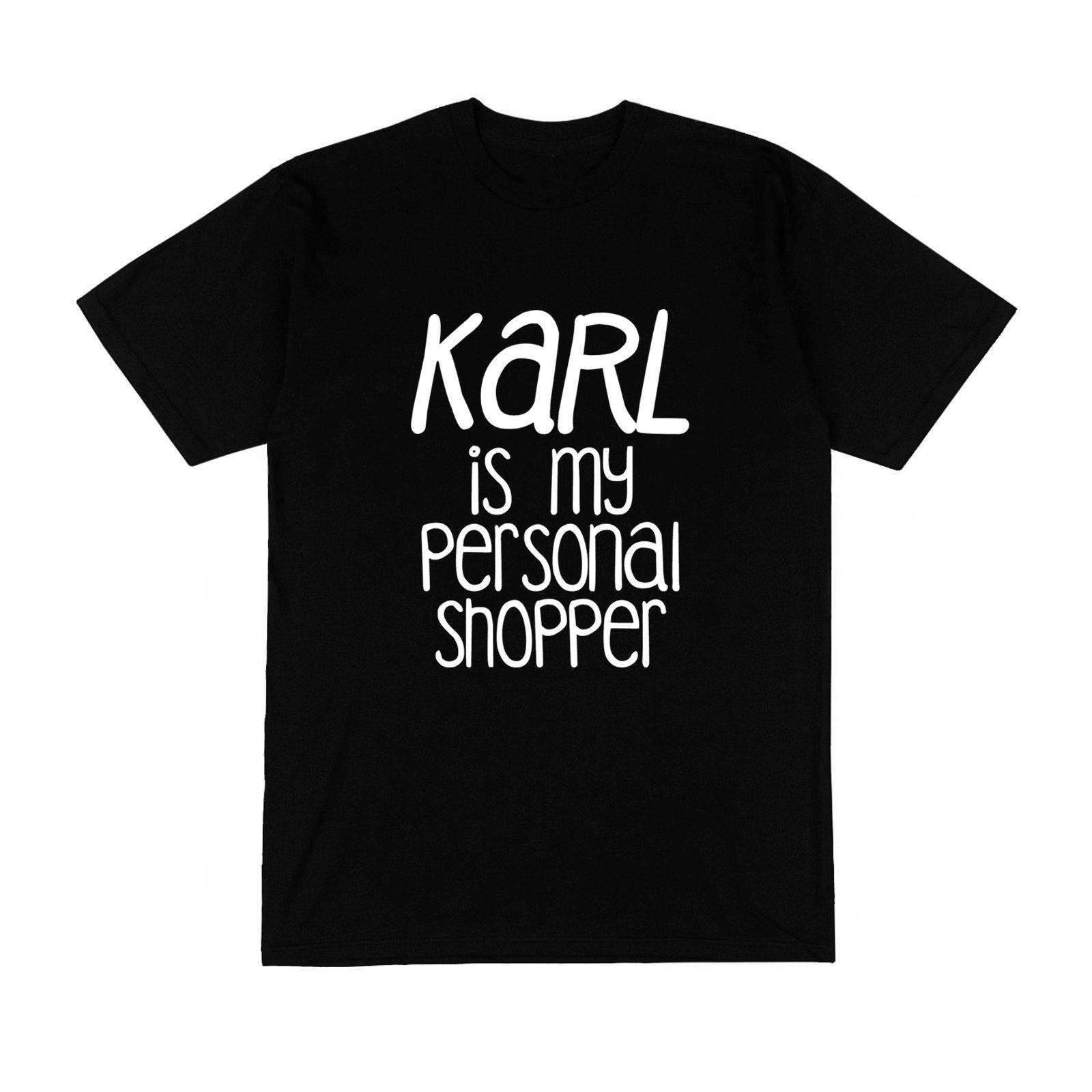 Womens T-shirt Homme monsieur karl est mon acheteur personnel shopping lagerfeld