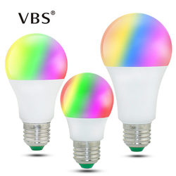 LED RGB Bulb Lamp E27 E14 3W Changeable LED Bulb 5W 10W 15W RGBW RGBWW 85-265V Magic Holiday RGB Lamp with IR remote 16 colors