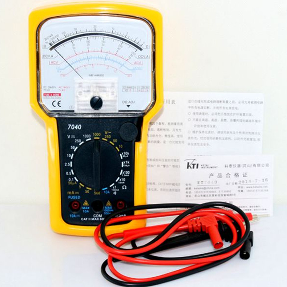 KT7040 KTI Selling High Quality Original Authentic Precision Analog Multimeter With Protective Sleeve original pci 6032e selling with good quality and professional