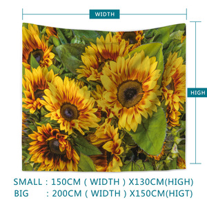 Image 4 - Painting Sunflower Sky Print Clouds Psychedelic Fatima Sun Wall Tapestry Beach Towels Dorm Farmhouse Decor Macrame Wall Hanging