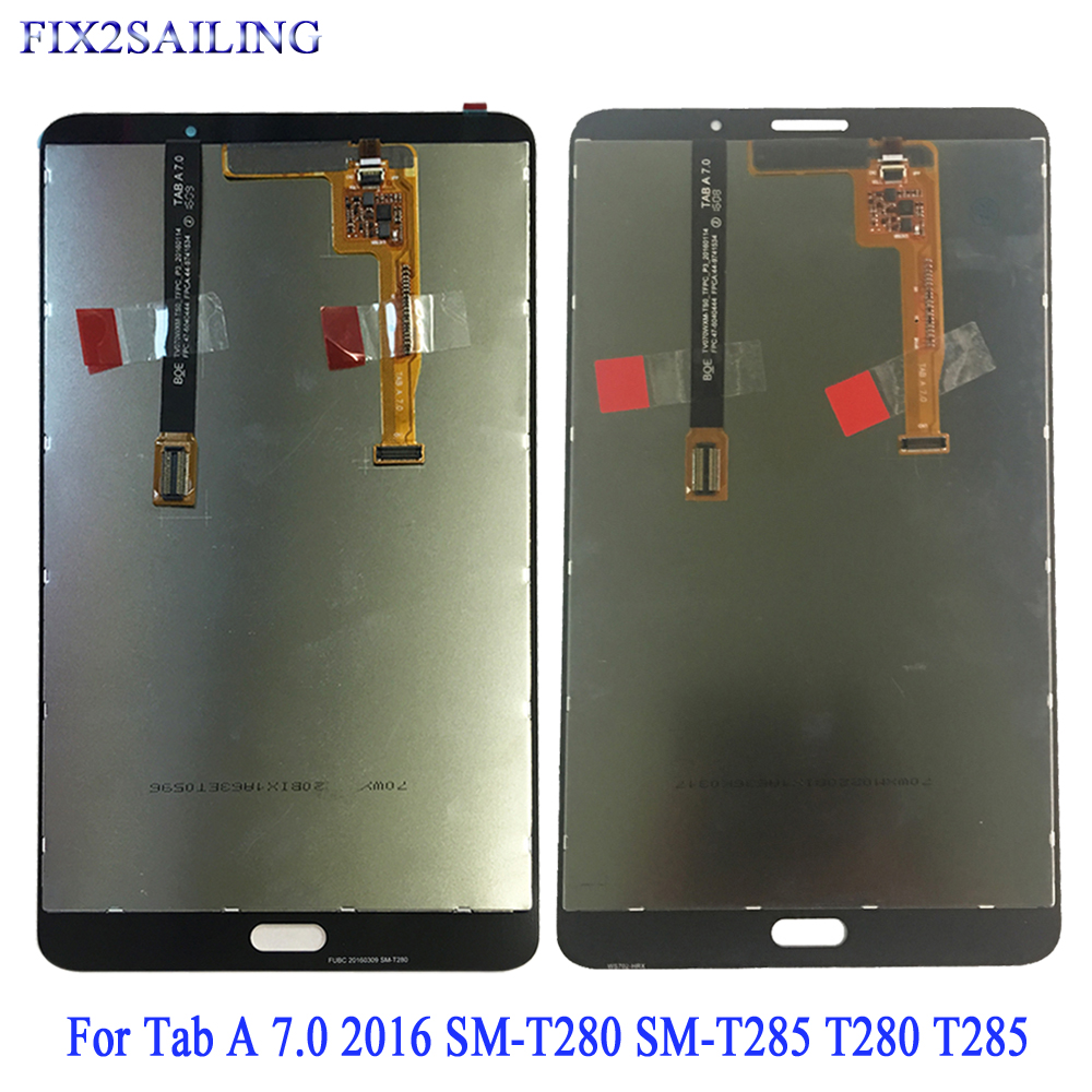 For Samsung Galaxy Tab A 7.0 2016 SM-T280 T280 T285 SM-T285 LCD Display Touch Screen Digitizer Assembly For Samsung T280 T285(China)