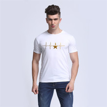 t shirt homme 2017 Hamilton Heartbeat the Broadway An American Musical GOLD STAR T-Shirt Men and Women Tops Tees camisa termica