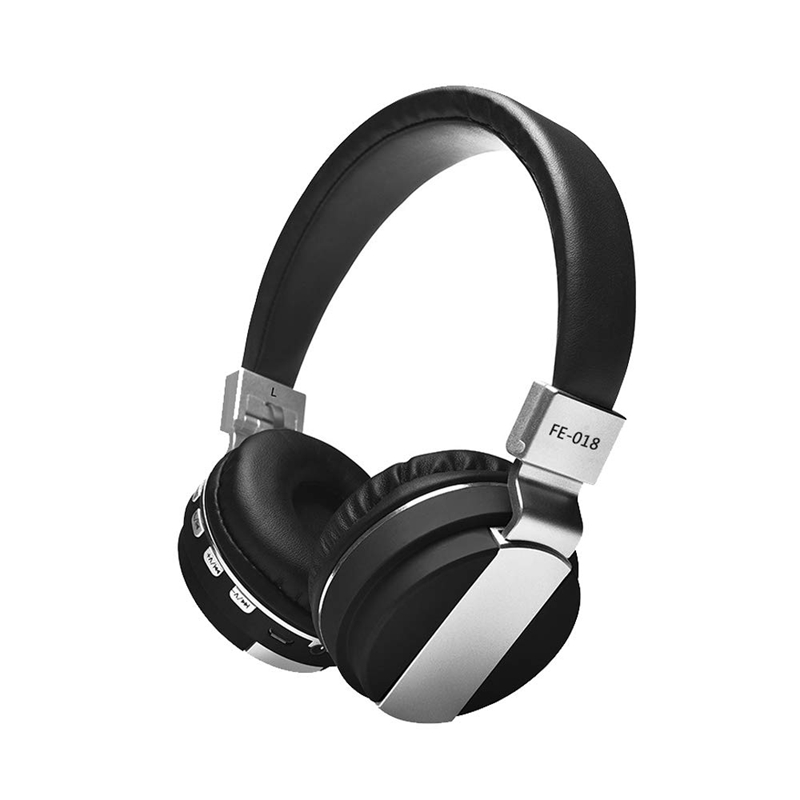 Fe-018 Foldable Wireless Bluetooth Headphones Wired Headset Headband Earphone With Mic Support Fm Radio Micro-Sd Tf Card For A