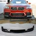 F10 настоящий M5 углеродное волокно передний бампер спойлер для BMW F10 M5 бампер разветвитель 10-17