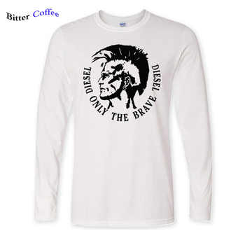 New Autumn winter Diesel print t shirt men's Diesel only the brave Diesel print O neck Long sleeve male cotton Tees shirts - DISCOUNT ITEM  25% OFF All Category
