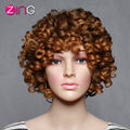 Zing Light Brown Wig For Women Afro Kinky Curly Synthetic Wigs AAA Women's Wig Perruque Synthetic Women Pelucas Cospaly Wig