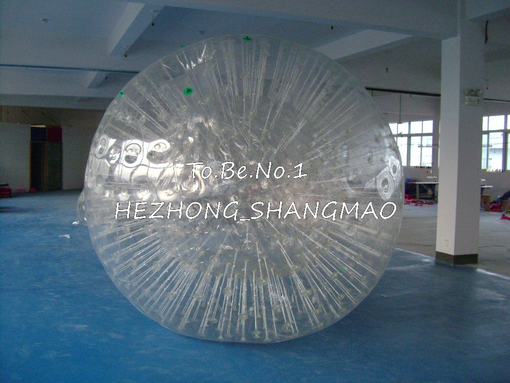 2.5M*1.8M Inflatable Zorb ball Zorbing Human Hamster ball 1300W Blowers X1 free shipping inflatable water walking ball water rolling ball water balloon zorb ball inflatable human hamster plastic ball