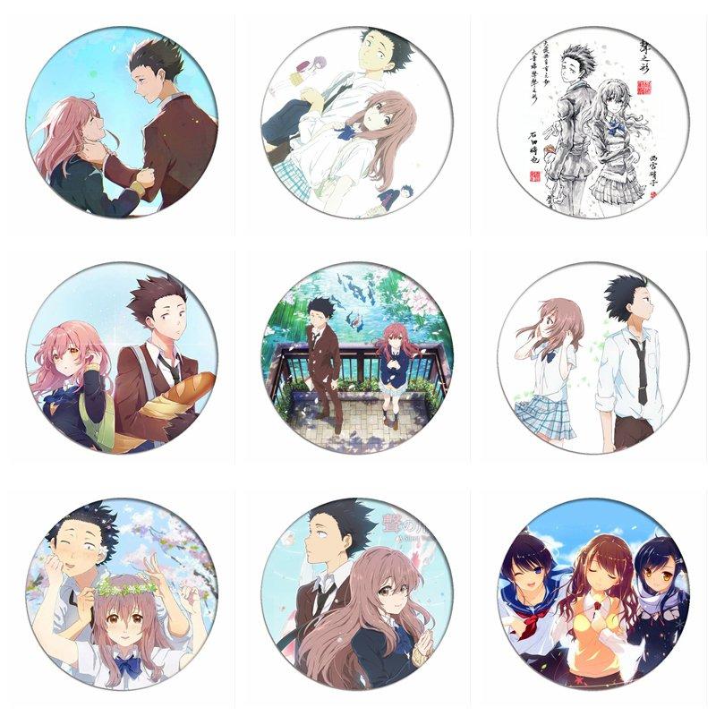 1pcs Koe No Katachi Cosplay Badge Ishida Shouya Brooch Pins Shouko Nishimiya Collection Badges For Backpacks Clothes