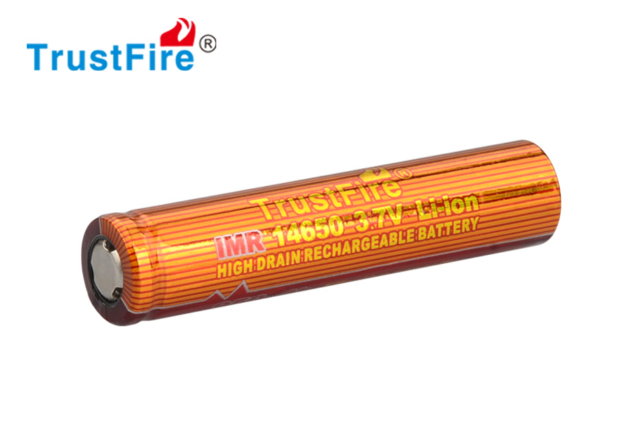 12pcs/lot TrustFire IMR 14650 3.7V 950mAh Li-ion High Drain Rechargeable Battery For Electronic Cigarette Output 10A Batteries