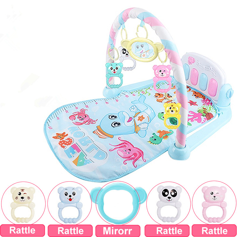 Baby Play Mat Rug Toys Kid Crawling Music Play Game Developing Mat With Piano Keyboard Infant Carpet Education Rack Toy For Kids