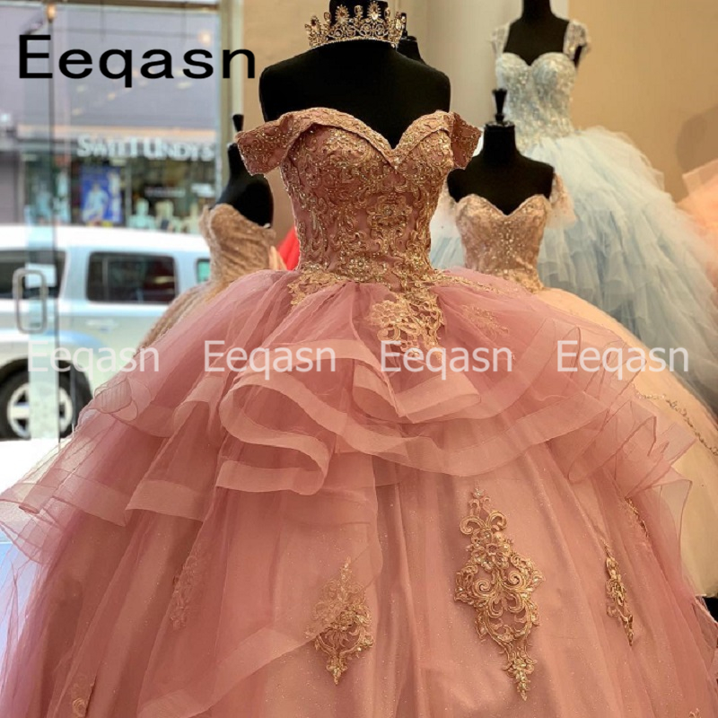 Quinceanera Dresses Ball Gown Long Lace Quinceanera Dresses Vestidos De 15 Corset Anos Sweet 16 Dresses 2020 Puffy Prom Gown