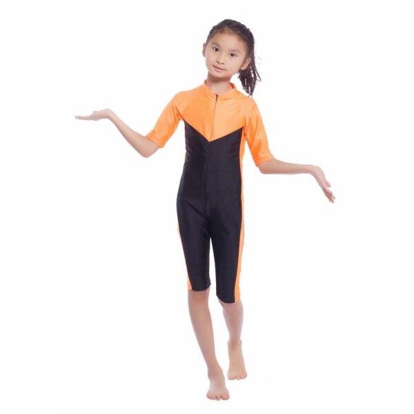 Kids Girls Modest Swimwear font b Swimsuit b font font b Muslim b font Islamic One