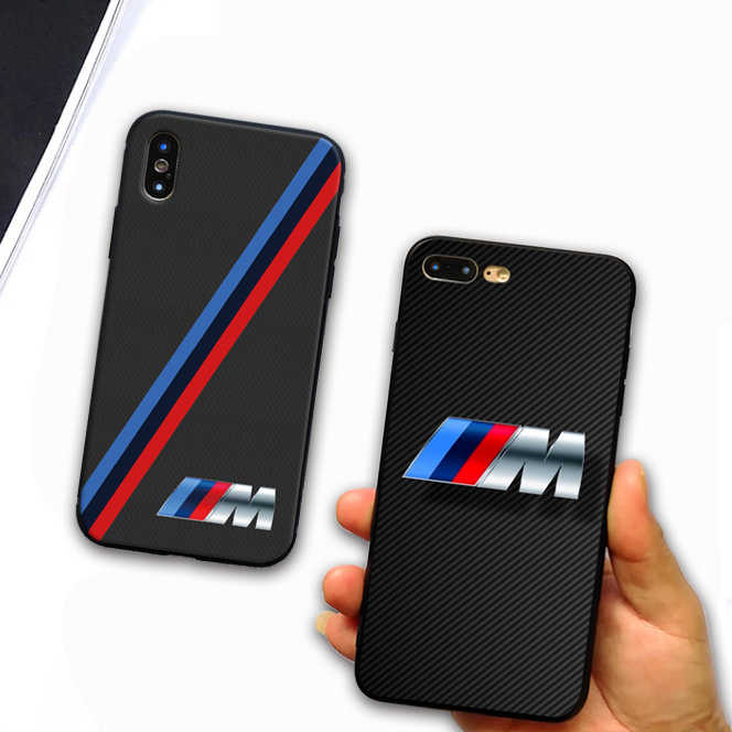 pretty nice 44658 5642a For iphone 7 case luxurious Slim BMW Soft silicone Cover Case For Apple  iphone 5 SE 6 6S 7 8 Plus X S R Max Mobile Phone Cases