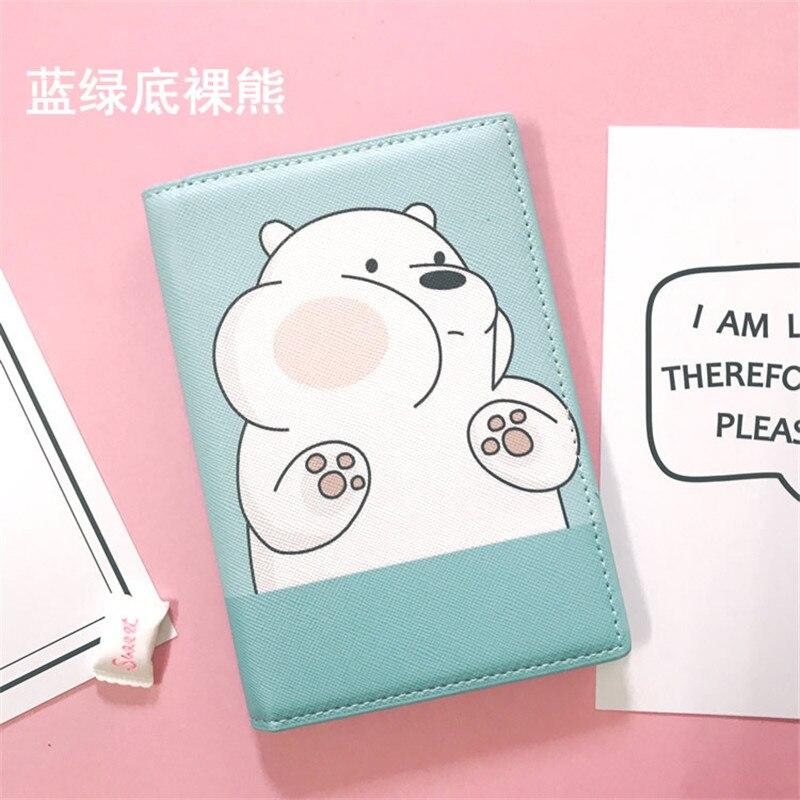 Funda de pasaporte de oso limpio de dibujos animados impermeable ...
