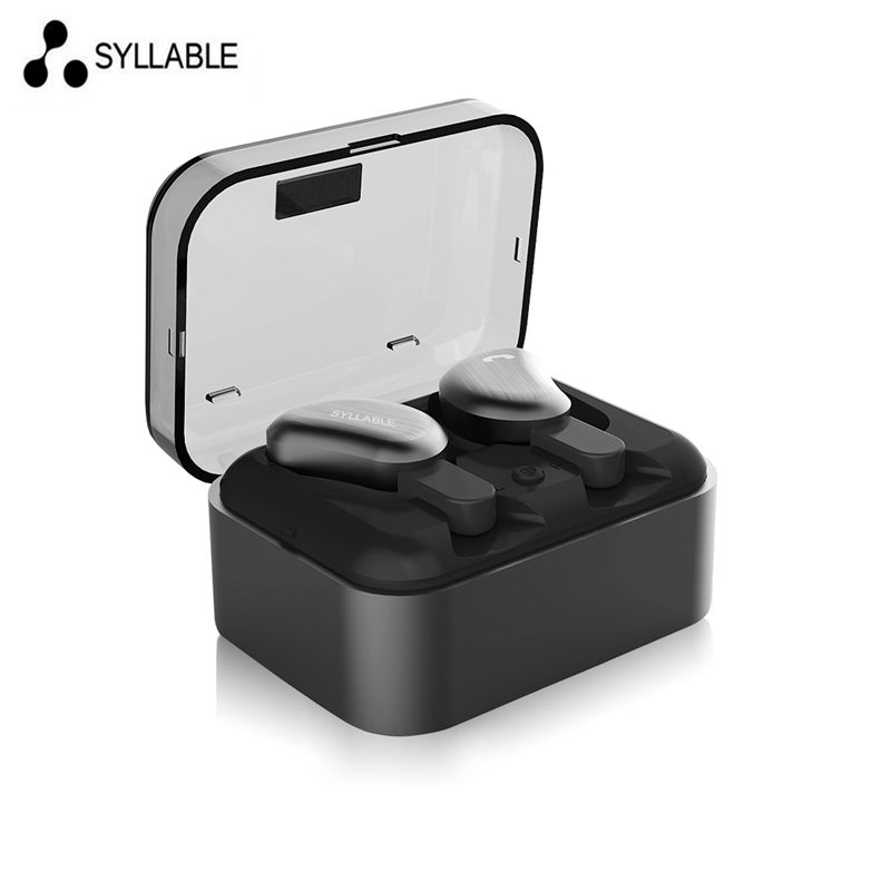 SYLLABLE D9 TWS Bluetooth Earphone portable chrging box True Wireless Stereo Earbud Sweatproof Bluetooth Headset for phone