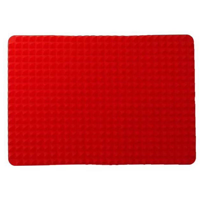 1pc Red Pyramid Silicone Baking Mats For Barbecued Multi