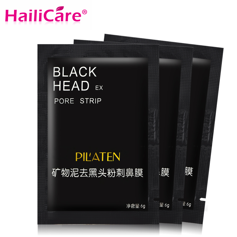 30pcs/pack Black Peel off Mask Mineral Mud Nose Mask Blackhead Removal Pore Strips Clean Skin Acne Remove Face Mask Black Head