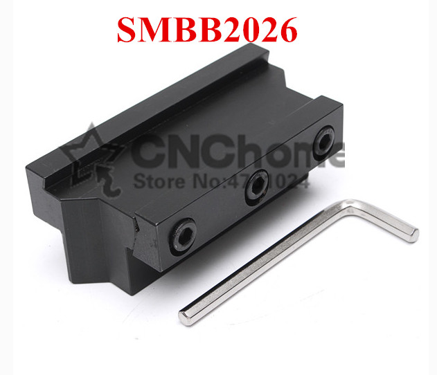 SMBB2026 Parting Blade Block,Indexable Parting Tool Stand Holder 20mm High Holding Clamp For 26mm Parting Tool SPB26-2/26-3/26-4