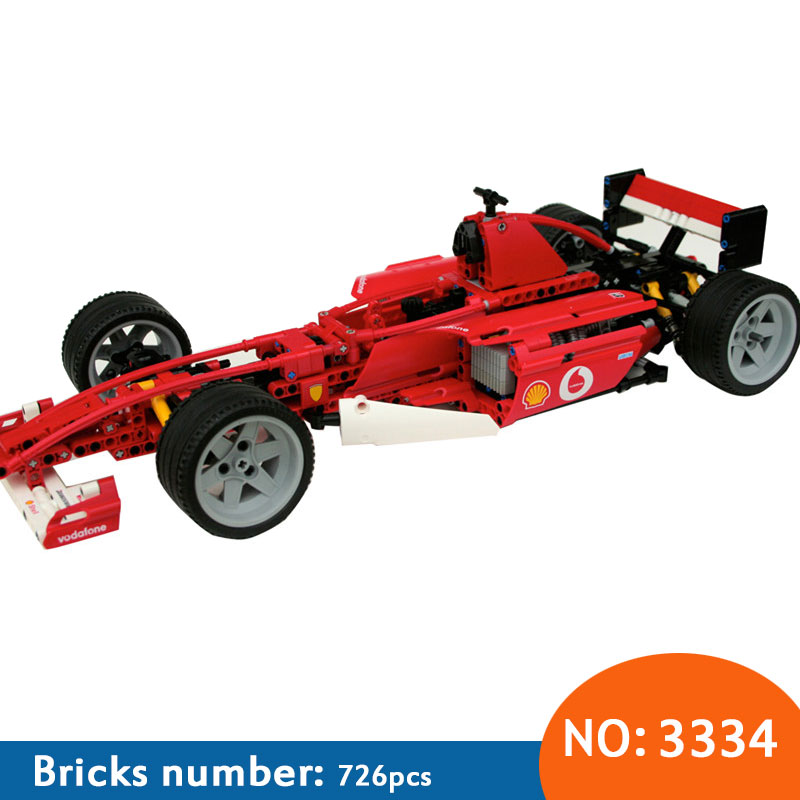3334 Formula Series Transport 1:10 Racing Car Model 726pcs Building Block Educational DIY Bricks Toys compatible стоимость