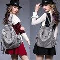 Nueva bolsa mochila para las mujeres de Corea del remache de cuero bolso de hombro del ocio mujeres mochila de viaje remache