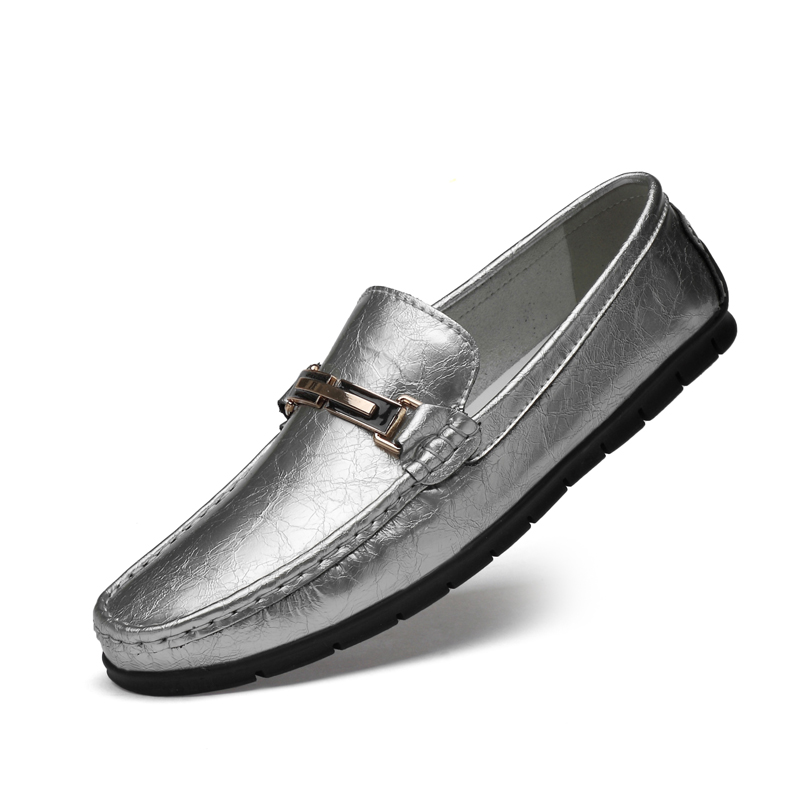Men Genuine Cow Leather Loafers Plus Size 46 Man Casual Shoes Office Boat Shoes for Men