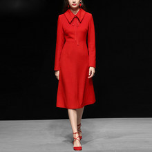 Rode Wollen Jurk.Dress Red Wool Koop Goedkope Dress Red Wool Loten Van Chinese Dress