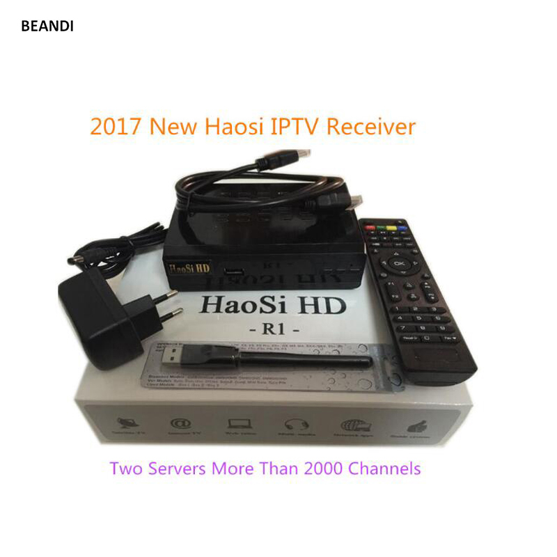 Arabic IPtv Box HAOSIHD free 2000+ full HD French TV German Italian Asia America Sweden Norway Netherlands Europe channels+WIFI 1150 channels free iptv ip s2 plus smart tv box dvb s2 satellite receiver hd full 1080p 1 year europe arabic italian smart iptv