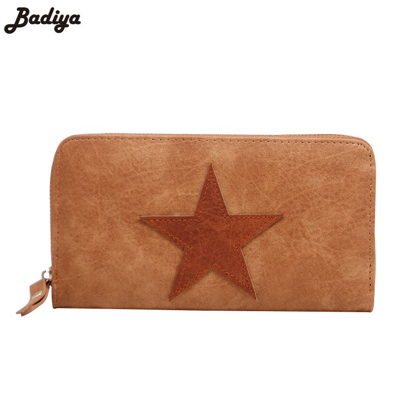 New Women Large Capacity Purse Famous Brand Female Card Holder Bags Clutch Long Star Wallet Fashion Zipper PU Leather Wallets 2016 new women wallets famous brand design pu leather wallet female zipper