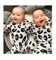Macacão de bebê com Estampa de Leopardo Inverno Grosso Roupas de bebê Recém-nascido Meninos Meninas Romper Quente Camisola De Malha De Natal Outwear Roupa Jumpsuits