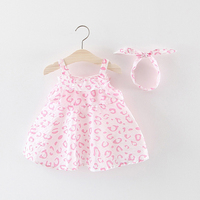 dresses for girls 2019 high quality printed sleeveless children dress princess party dress brand leopard baby girl clothes
