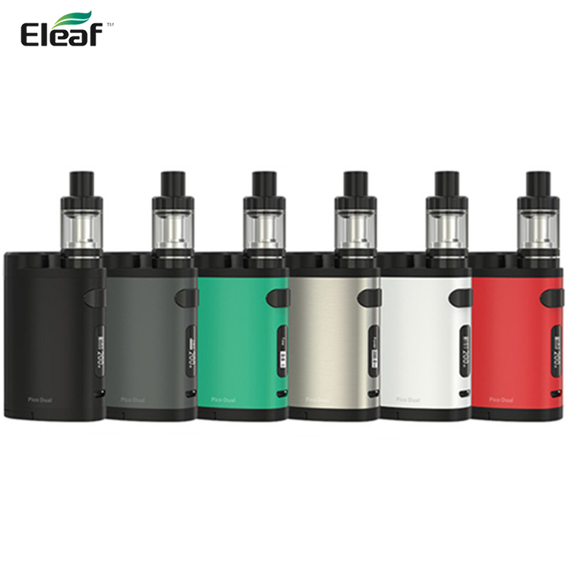 Original Eleaf Pico Dual TC Kit 200w With Pico Dual Box Mod and Eleaf MELO 3 III 2ml Mini Tank Atomizer vs istick Pico Mod 75W original smy 75w mini tc box mod