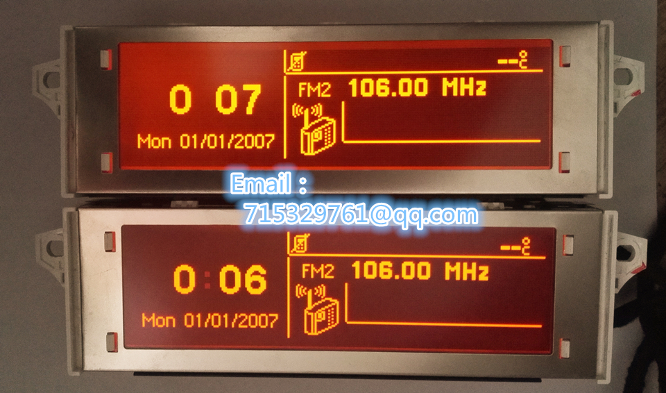 Screen support USB and Bluetooth Display red monitor 12 pin for Peugeot 307 207 408 citroen