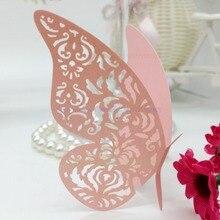 Nádherný vyřezávaný motýl z papíru – 100 ks