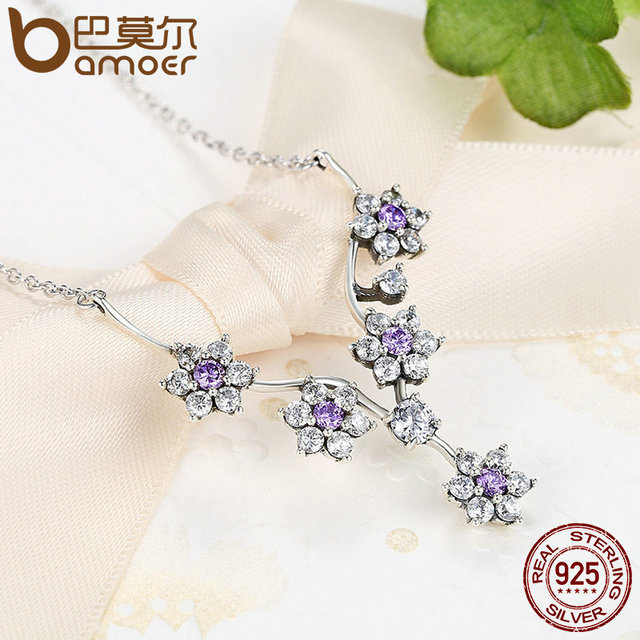 Sterling Silver Forget Me Not Jewelry Set