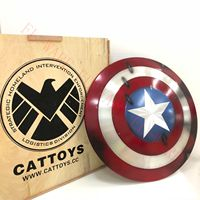 Cattoys Captain America Shield 1/1 Perfect Metal Made Version Prop Diameter Anime Figure Collectible Model Toy
