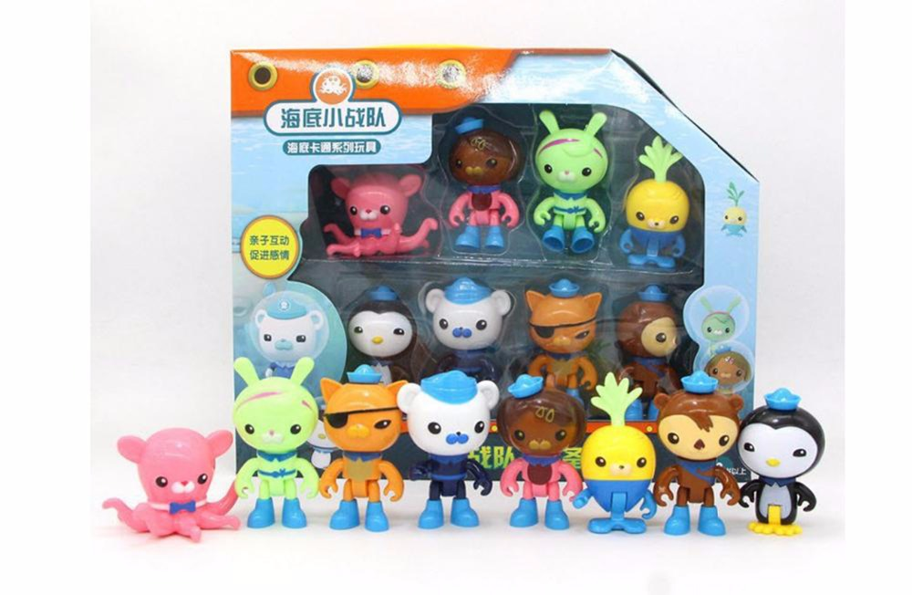 8pcs set The Octonauts Cartoon Action Figures Kids font b Toys b font Captain Barnacles Medic