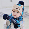 Korea Baby Boy Winter Hats Velvet Warm Kids Cap Winter Cute Fashion Lovely Baby Caps for Boys Promotion V-0216
