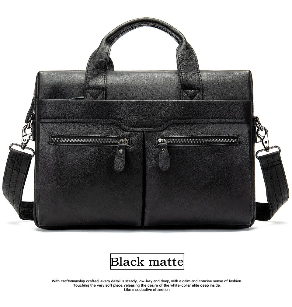 HTB1l7UpbcvrK1Rjy0Feq6ATmVXaW WESTAL genuine leather bag for men's briefcase bussiness laptop bags for documents messenger handbags tote briefcase 9005