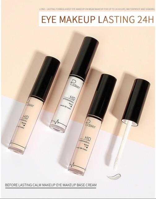 Pudaier 5ml Eye Face Base Primer Prolong Makeup Eye Primer Long Lasting Smudge-proof Make Up Natural Eye Color Cream TSLM2 2