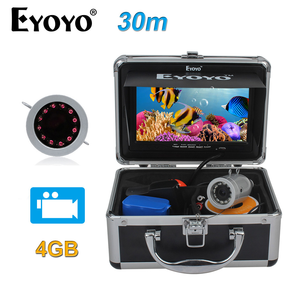 EYOYO Original 30M HD 1000TVLUnderwater Infrared Fishing font b Camera b font Fish Finder Video Recording