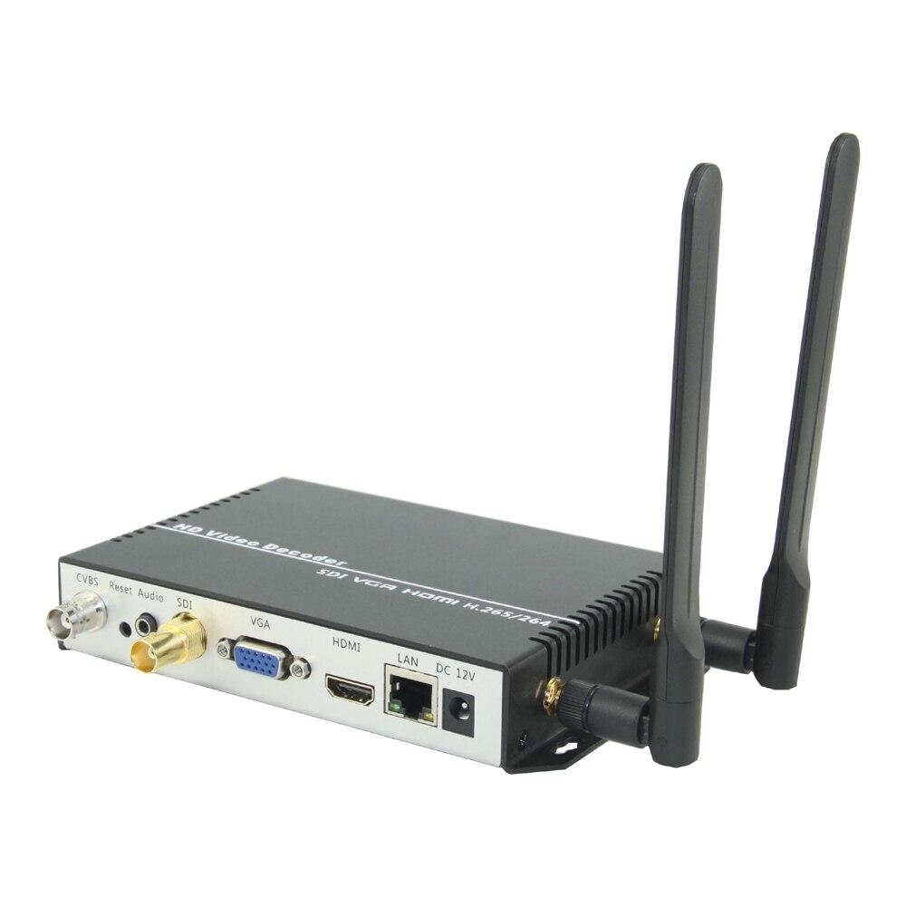ESZYM H.265/H.264 Беспроводной sdi-декодер для сети потоковой передачи панель расшифровки жидкокристаллического дисплея как RTMP RTSP/UDP/HTTP