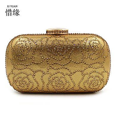 XIYUAN BRAND lady New double Side flower Diamond Crystal Evening Bags Clutch Bag Hot Styling Day Clutches Lady Wedding woman bag
