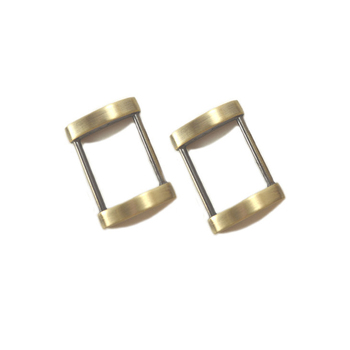 1 Inch Arched Edge Rectangle Ring, Antique Brass / Bronze Finish