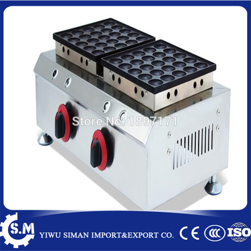 50 Pcs gas 110v 220v Mini Pancake Machine Poffertjes Grill Dutch Waffle Maker muffin machine