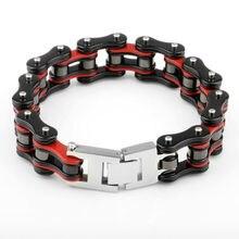 SDA Модные мужские мотоциклетные цепи и велосипедные браслеты 316L нержавеющая сталь украшения для мужчин Уникальный стиль YM086