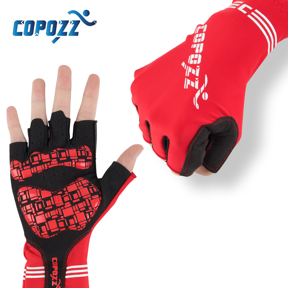 COPOZZ Anti Slip Riding Bicycle Gloves Gel Pad Short Half Finger Cycling Gloves Breathable Outdoor Sport Men MTB Bikes Gloves mtwe9018 anti slip half finger bicycle riding cycling gloves blue grey black xl size pair