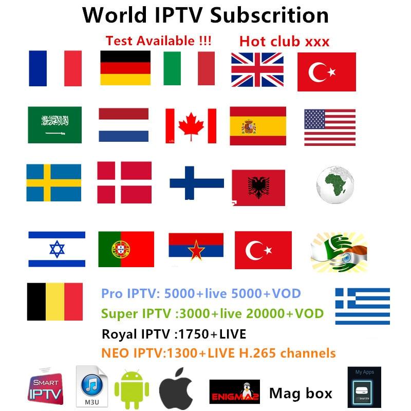 AV cable+IPTV Subscription Israel Sweden Europe Arabic French Italy Germany UK Hotclub Adult xxx M3U Enigma2 Smart TV Mag tv box